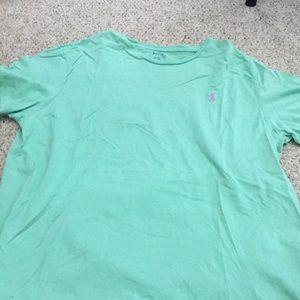 Seafoam green polo Ralph Lauren men's T-shirt